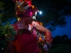 les marraines fées de nuit spectacle échasses colorés féerique