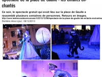 (Vernon. Spectacle de la place de Gaulle : les enfants enchant351s 253 Article 253 Le D351mocrate)