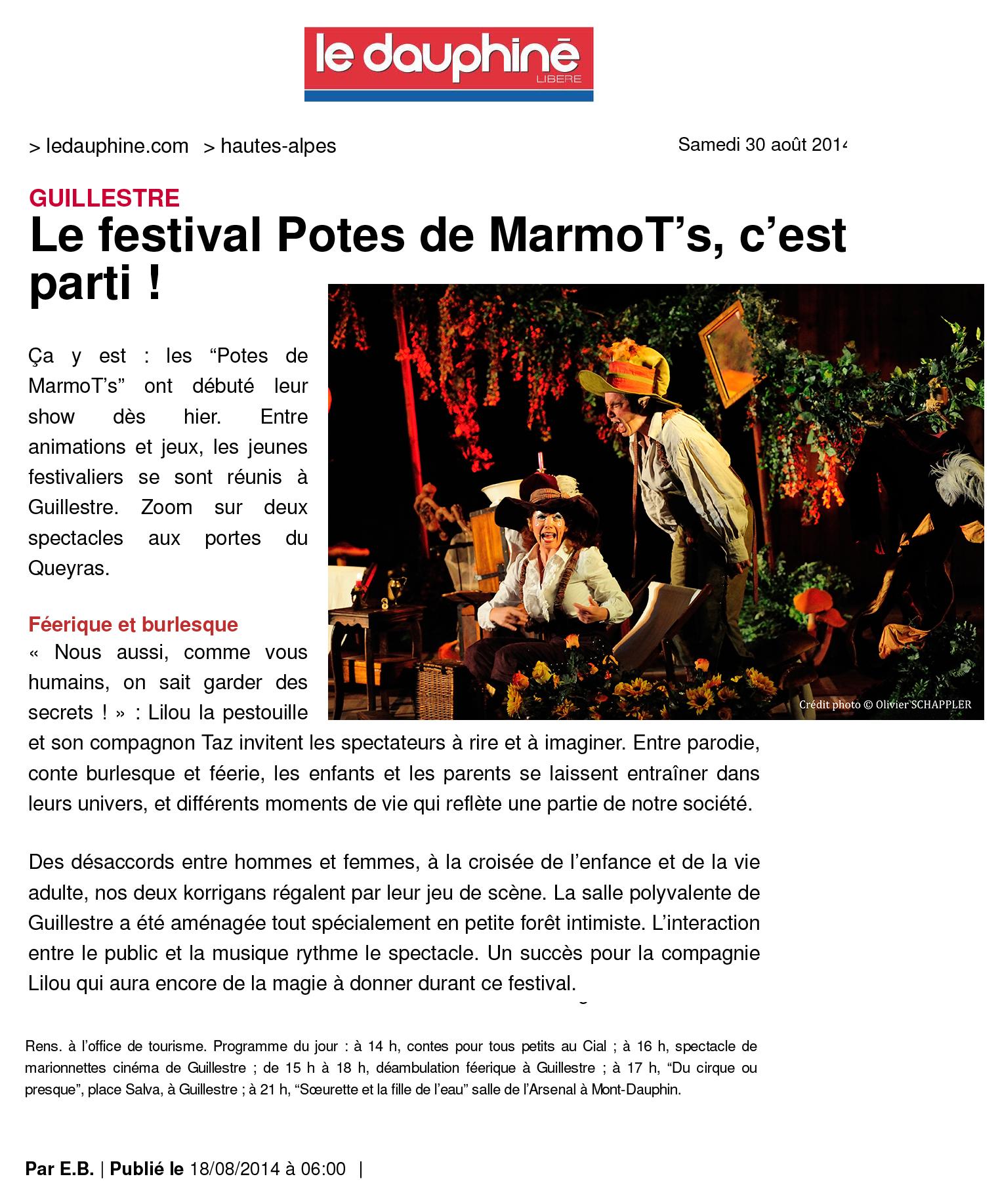 (Guillestre | Le festival Potes de MarmoT222s, c222est parti !)