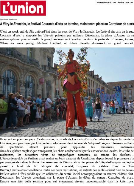 (300 Vitry-le-Fran347ois, le festival Courants d222arts se termine, maintenant place au Carrefour de stars - www.lunion.com)
